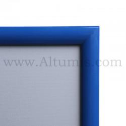 Cadre Clic-Clac d'affichage - Profil 25mm Bleu RAL 5010