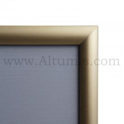 Cadre Clic-Clac d'affichage - Profil 25mm Gold