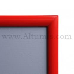 Cadre Clic-Clac d'affichage - Profil 25mm Rouge RAL 3020