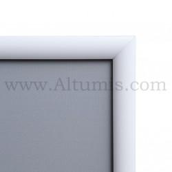 Cadre Clic-Clac d'affichage - Profil 25mm Blanc RAL 9003