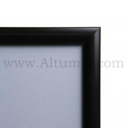 Cadre Clic-Clac d'affichage - Profil 25mm Noir RAL 9005