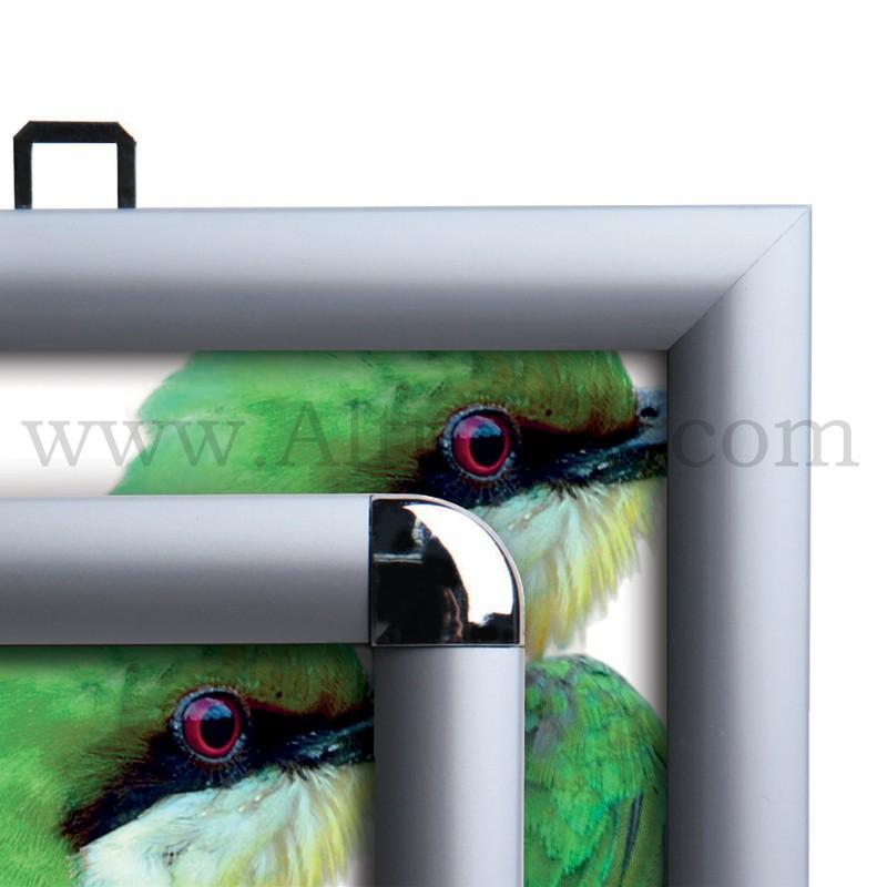 cadre clic clac d 39 affichage profil 25mm double face. Black Bedroom Furniture Sets. Home Design Ideas