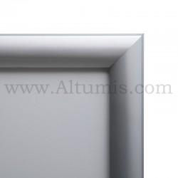 Cadre d'affichage LED Double face. Profil 30 mm. Version suspendu