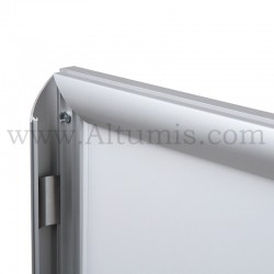 Cadre d'affichage LED Double face. Profil 30 mm. Chargement facile de l'affiche