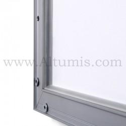 Cadre d'affichage LED Double face. Profil 30 mm. Température +/- 5000K