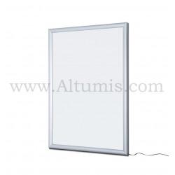Cadre d'affichage LED Double face. Profil 30 mm. Eclairage puissant et homogène