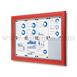 Outdoor lockable showcase Red RAL 3020