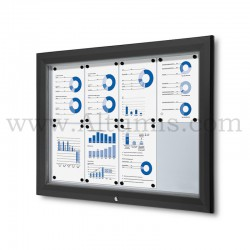 Outdoor lockable showcase Black RAL 9005