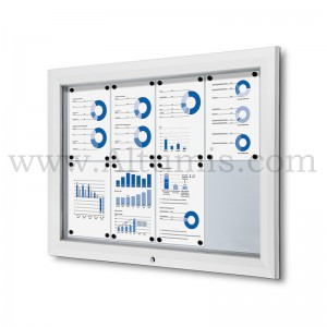 Outdoor lockable showcase White RAL 9003