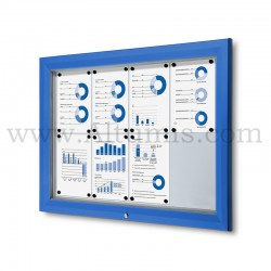 Outdoor lockable showcase Blue RAL 5010