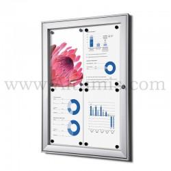 Vitrine d'affichage d'intérieur Standard fond magnétique