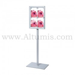 Freestanding indoor lockable showcase