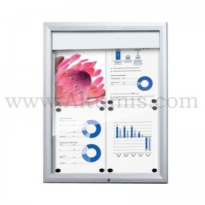 Outdoor lockable Showcase Illuminated Logo