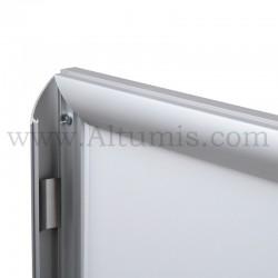 Cadre d'affichage LED d'intérieur simple face. Profil 30mm. Changement de l'affiche facile