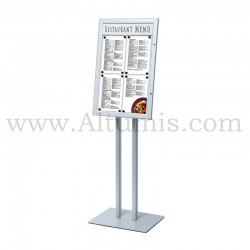 LED Backlit Portrait Menu Stand