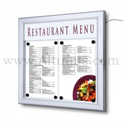Outdoor Menu case LED