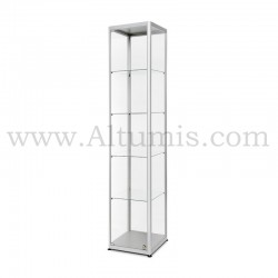 Glass Showcase 400x400 Hinger door