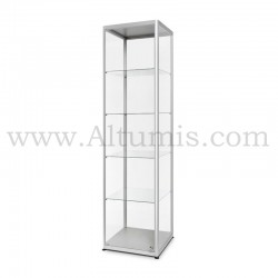 Glass Showcase 500x500 Hinger door