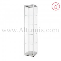 Glass Showcase Illuminated 400x400 Hinged door