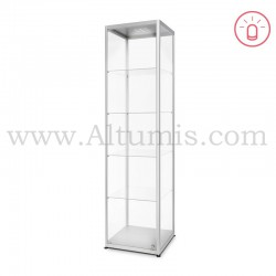Glass Showcase Illuminated 500x500 Hinged door