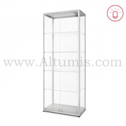 Glass Showcase Illuminated 800x400 Double Hinged doors