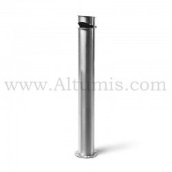 Cylindrical ashtray post Satin finish