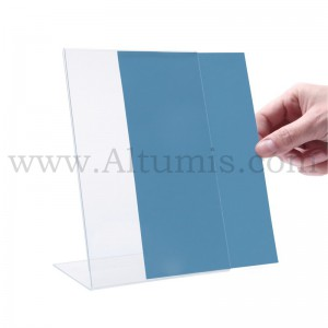Porte-document en plexiglas - L. Disponible en A4, A5 et 1/3 de A4. Altumis