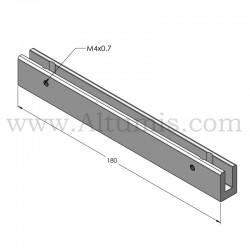 Perpendicular wall clamp sign 180
