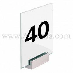 Wall clamp sign 180