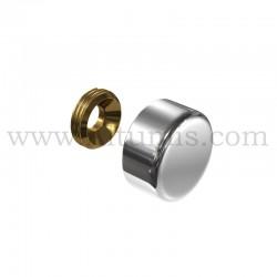 Cache Vis Aluminium - diamètre 13 mm