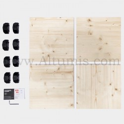 Kit Square S1 - Fir Wood - PlayWood