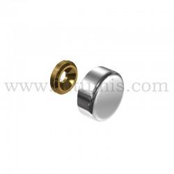Cache Vis Aluminium - diamètre 18 mm