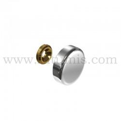 Cache Vis Aluminium - diamètre 24 mm