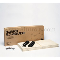 Rectangular Kit R1 - Fir Wood - PlayWood