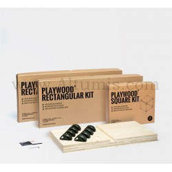 Rectangular Kit R2S1 - Fir Wood - PlayWood