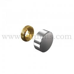 Cache Vis Inox diamètre 13 mm