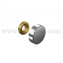 Cache Vis Inox diamètre 18 mm
