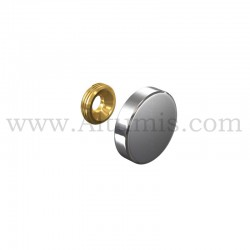 Cache Vis Inox diametre 24 mm