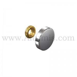 Stainless Steel Screw Cover Cap Dia. 24 mm
