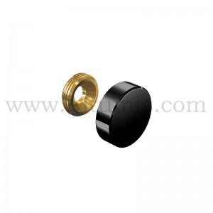 Black Screw Cover Cap Diameter 18 mm