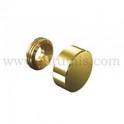 Cache Vis Aluminium doré - Ø 13 mm