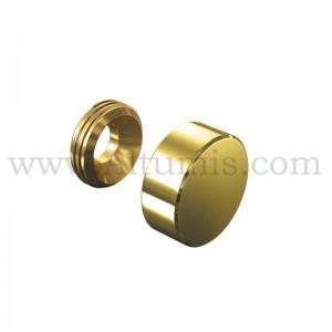 Gold Screw Cover Cap Diameter 13 mm