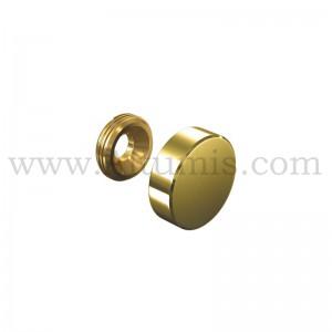 Gold Screw Cover Cap Diameter 18 mm