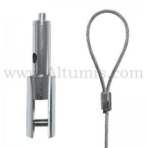 Kit câble de suspension avec embout câble boucle et support suspendu. Charge de travail jusqu'à 15 kg. FitCable