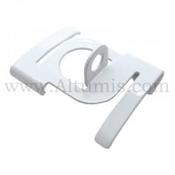 Clip rail dalle plafond boucle - FitCable