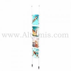 Colonne porte-affiche A4 Vertical / Kit câble suspendu Lest - Altumis
