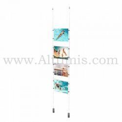 Colonne porte-affiche A4 Horizontal / Kit câble suspendu Lest - Altumis