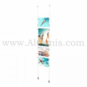 Colonne porte-affiche Mixte / Kit câble suspendu Sol-Plafond - Altumis