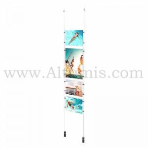 Colonne porte-affiche Mixte / Kit câble suspendu Lest - Altumis