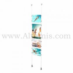 Colonne porte-affiche Mixte / Kit câble suspendu Mural - Altumis